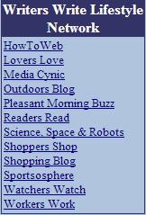 Writers Write Lifestyle Network Sites